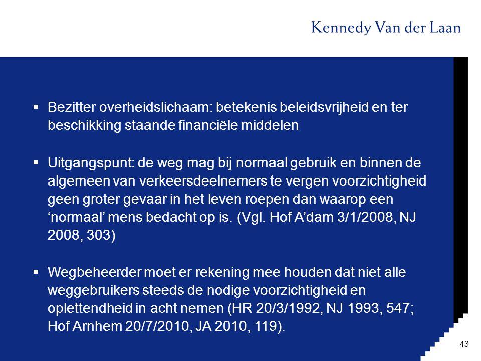 Bezitter overheidslichaam: betekenis beleidsvrijheid en ter beschikking staande financiële middelen