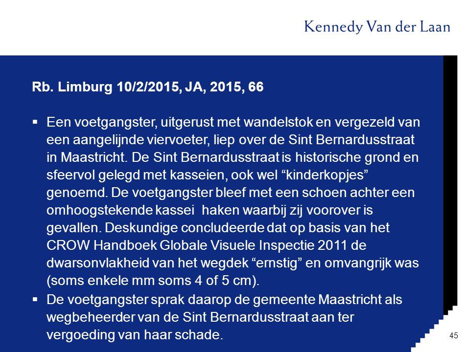 Rb. Limburg 10/2/2015, JA, 2015, 66