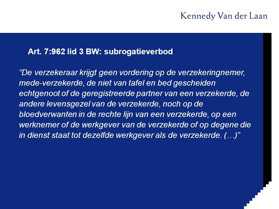 Art. 7:962 lid 3 BW: subrogatieverbod