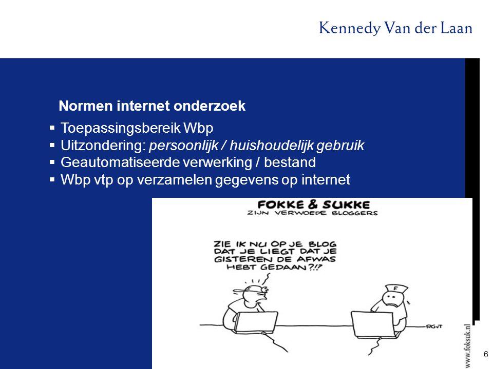 Normen internet onderzoek