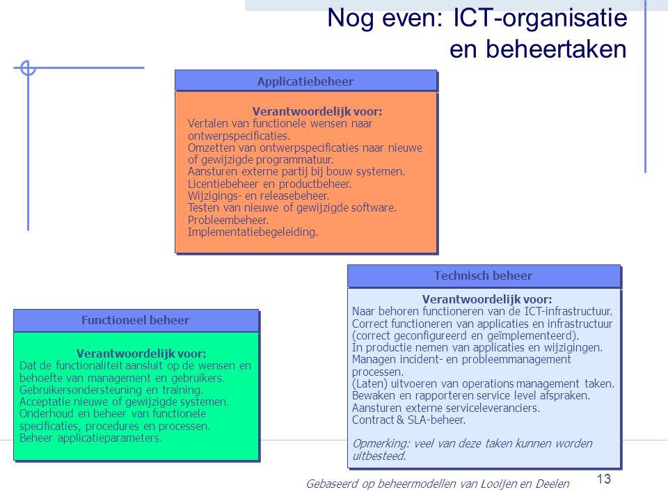 Nog even: ICT-organisatie en beheertaken