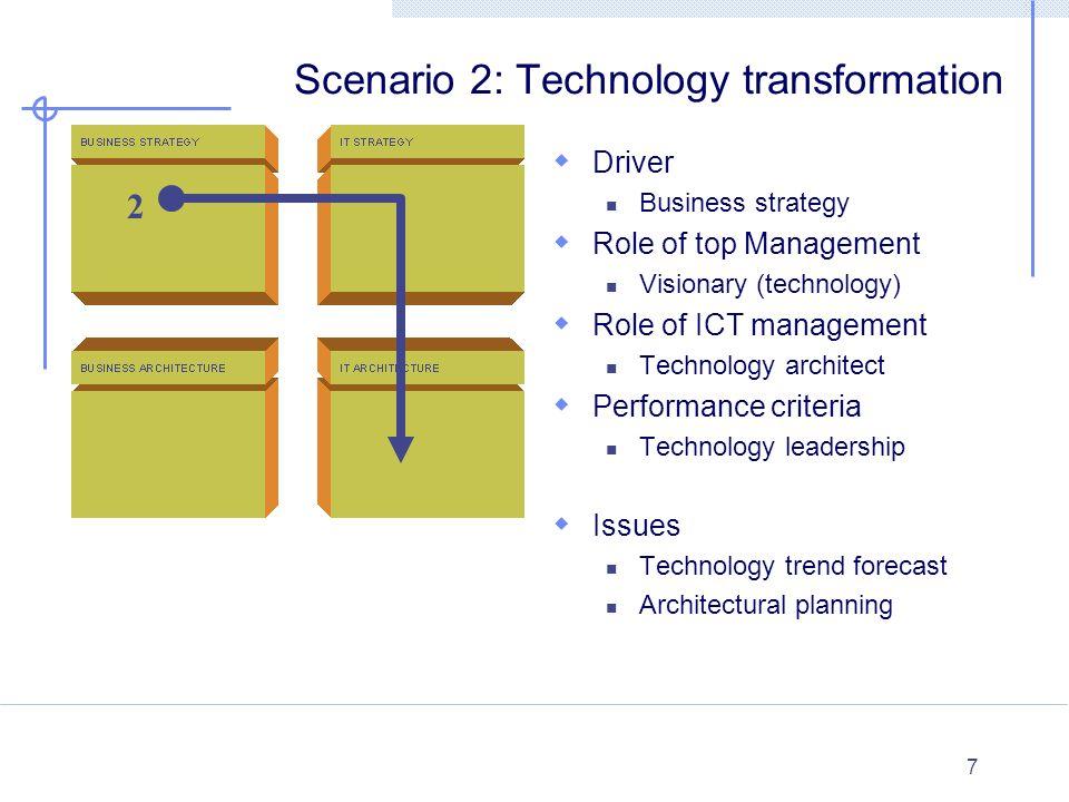 Scenario 2: Technology transformation