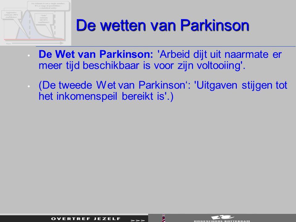 De wetten van Parkinson