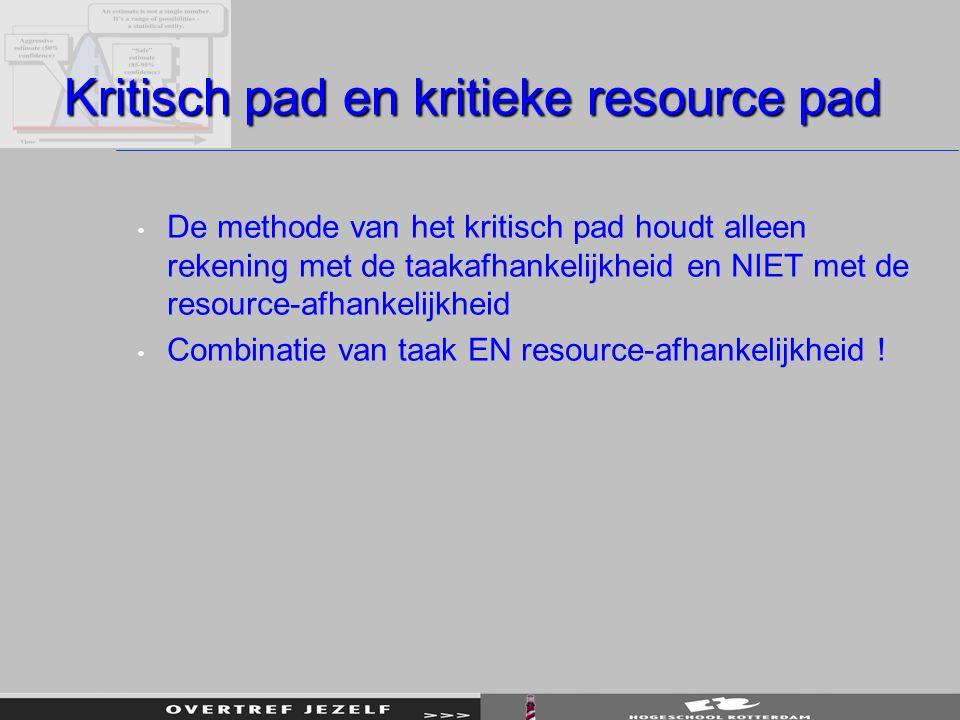 Kritisch pad en kritieke resource pad