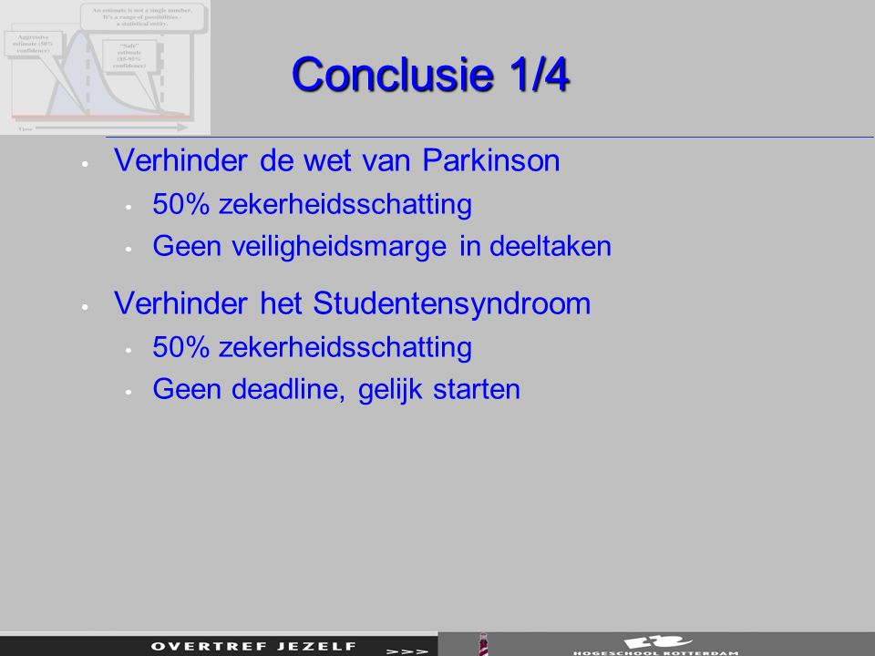 Conclusie 1/4 Verhinder de wet van Parkinson