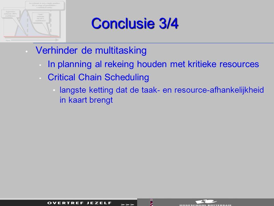 Conclusie 3/4 Verhinder de multitasking