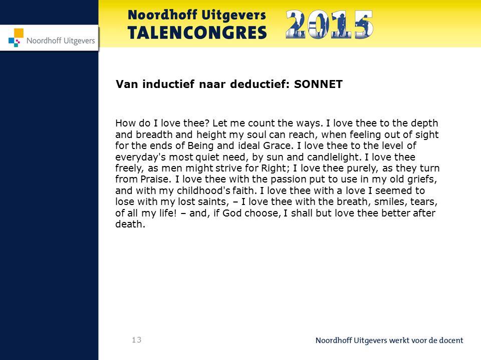Van inductief naar deductief: SONNET