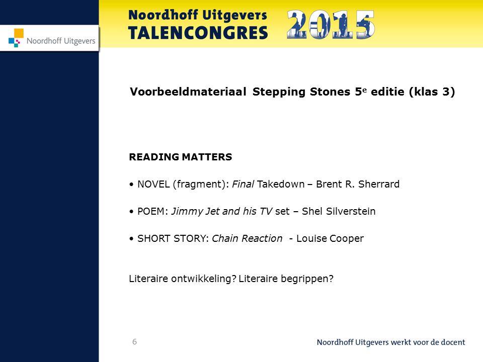 Voorbeeldmateriaal Stepping Stones 5e editie (klas 3)