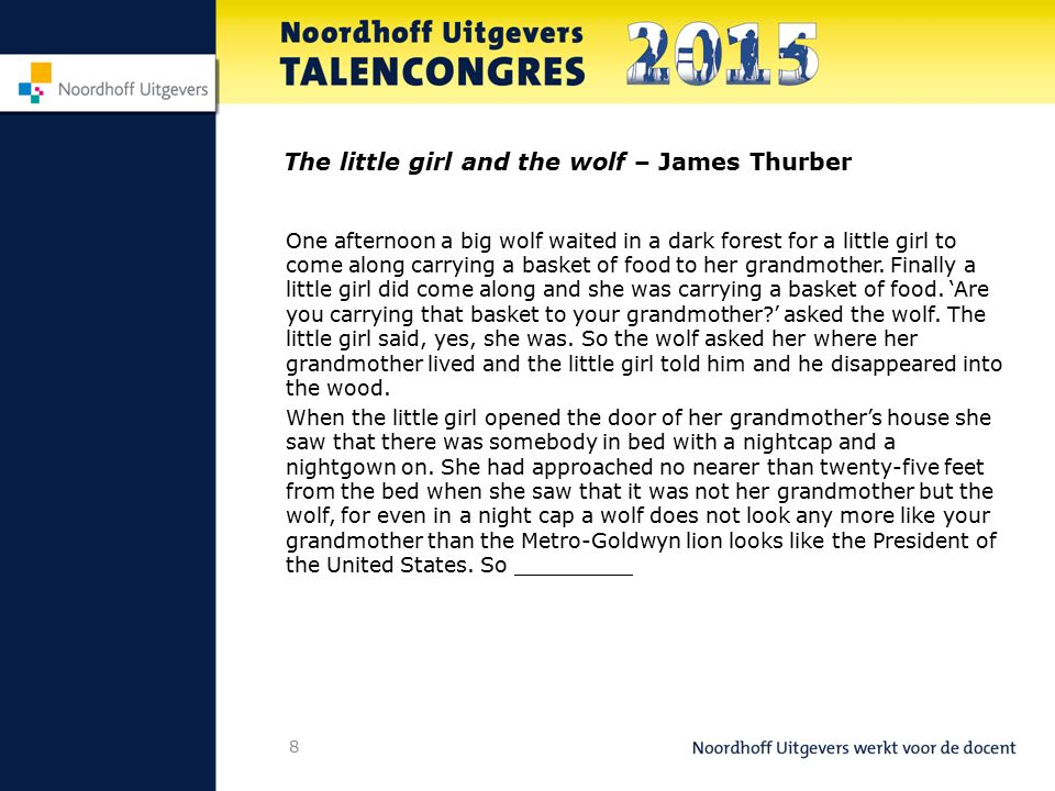 The little girl and the wolf – James Thurber