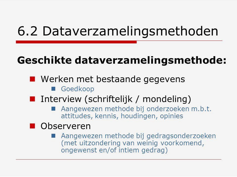6.2 Dataverzamelingsmethoden
