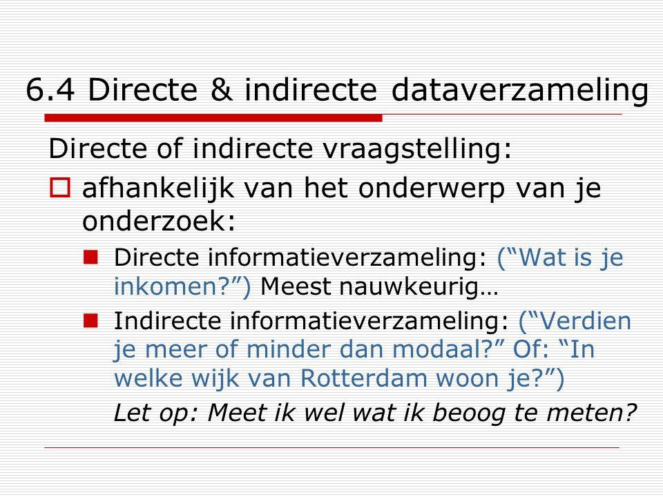 6.4 Directe & indirecte dataverzameling