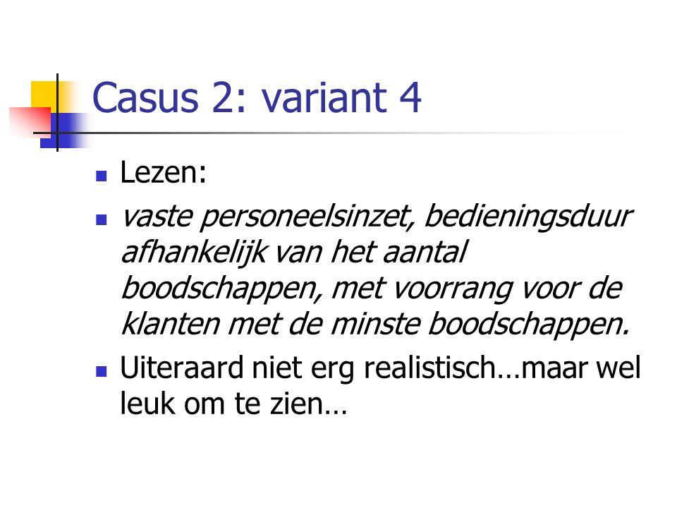 Casus 2: variant 4 Lezen:
