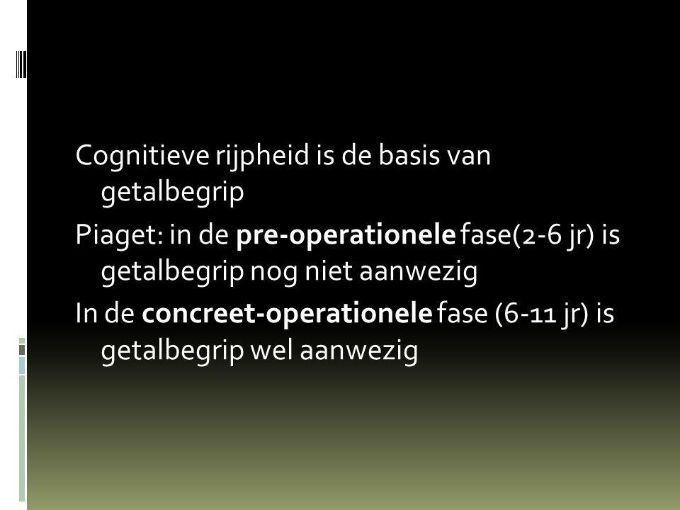 Cognitieve rijpheid is de basis van getalbegrip