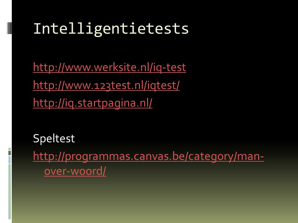 Intelligentietests
