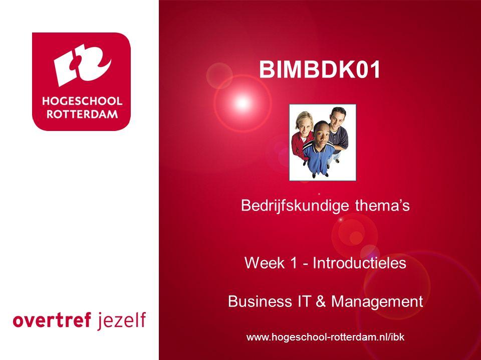 Presentatie titel BIMBDK01 Bedrijfskundige thema's
