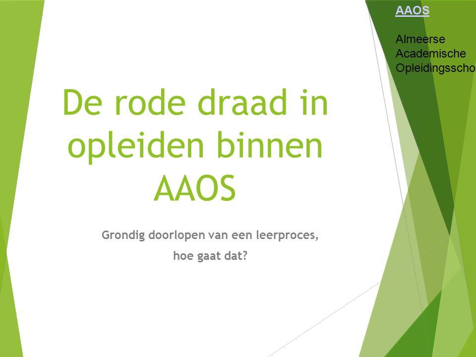 De rode draad in opleiden binnen AAOS