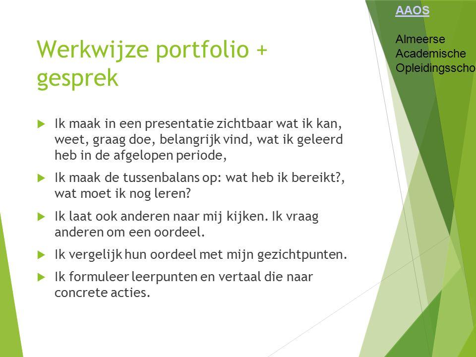 Werkwijze portfolio + gesprek