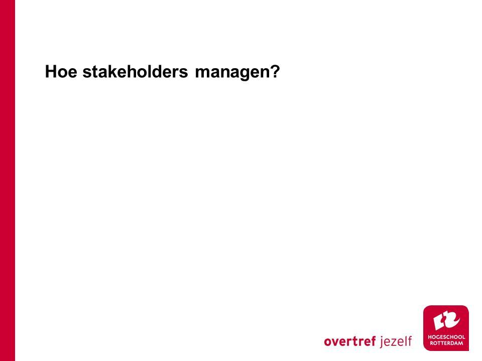 Hoe stakeholders managen