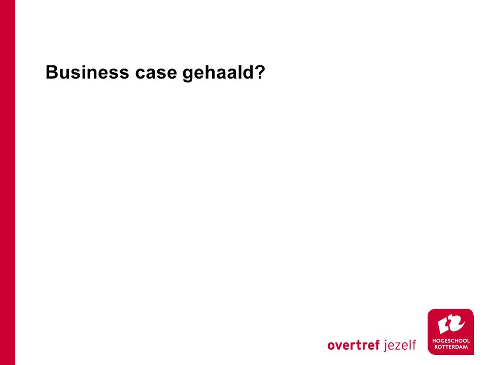 Business case gehaald