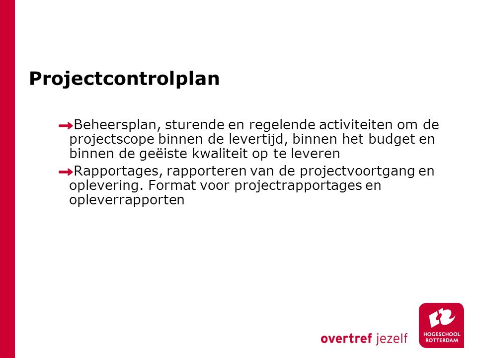 Projectcontrolplan
