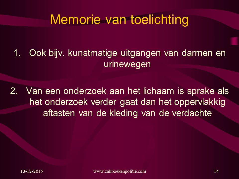 Memorie van toelichting