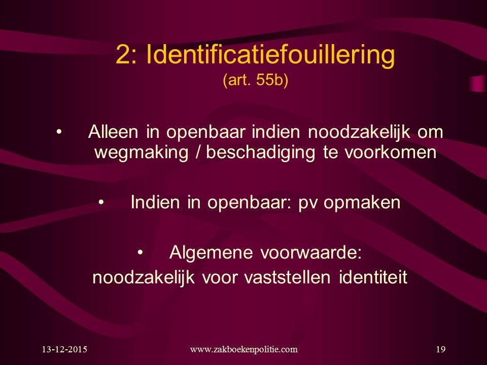 2: Identificatiefouillering (art. 55b)