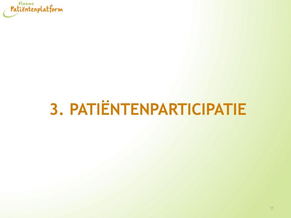 3. Patiëntenparticipatie