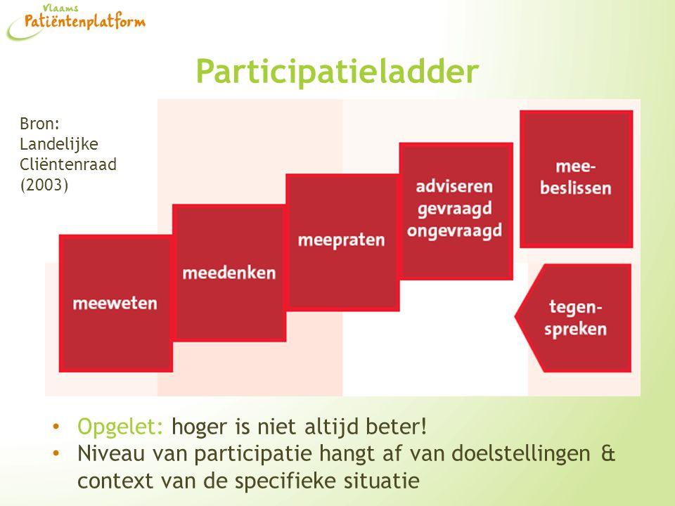 Participatieladder Opgelet: hoger is niet altijd beter!