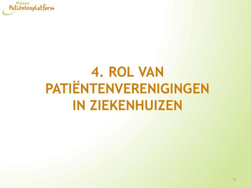 4. Rol van patiëntenverenigingen in ziekenhuizen