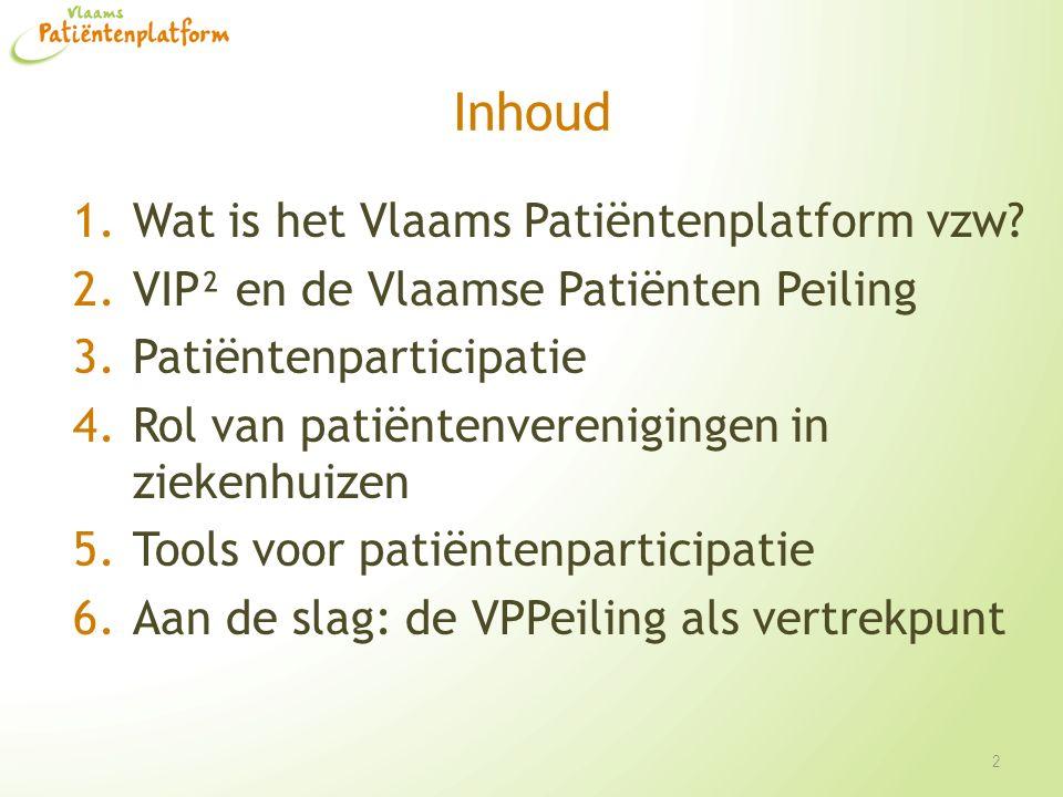 Inhoud Wat is het Vlaams Patiëntenplatform vzw
