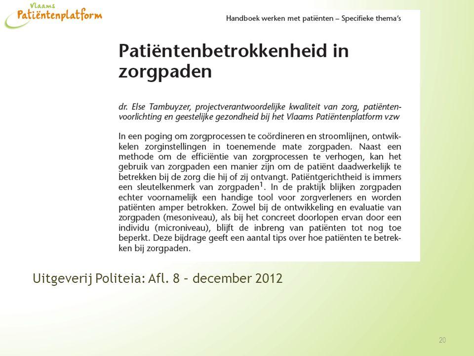 Uitgeverij Politeia: Afl. 8 – december 2012