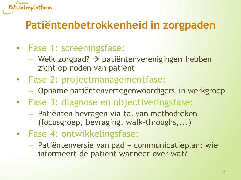 Patiëntenbetrokkenheid in zorgpaden