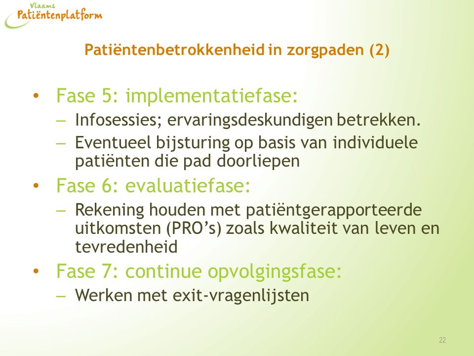 Patiëntenbetrokkenheid in zorgpaden (2)