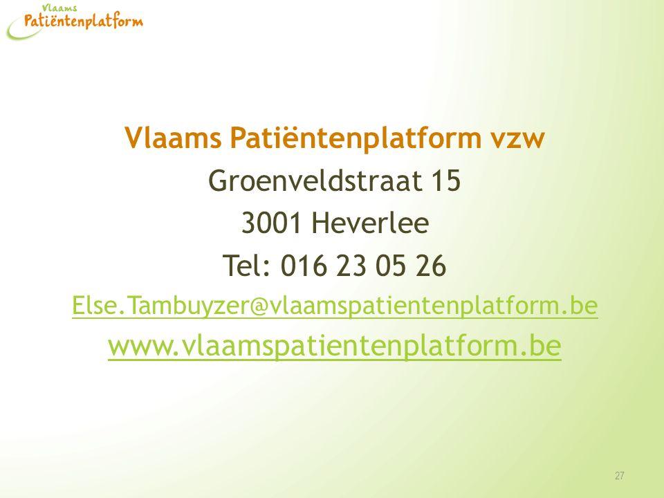 Vlaams Patiëntenplatform vzw