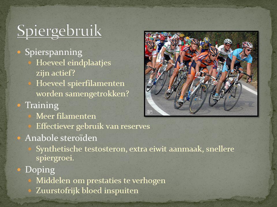 Spiergebruik Spierspanning Training Anabole steroïden Doping