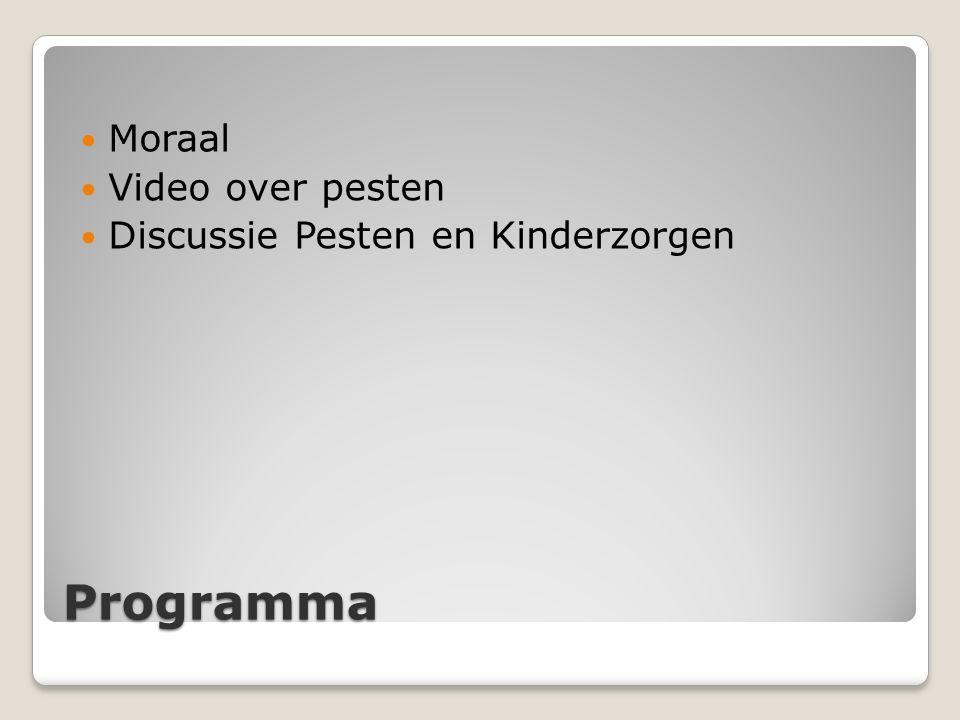Moraal Video over pesten Discussie Pesten en Kinderzorgen Programma