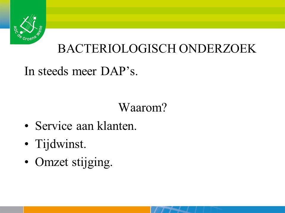 BACTERIOLOGISCH ONDERZOEK