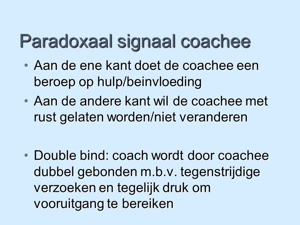 Paradoxaal signaal coachee