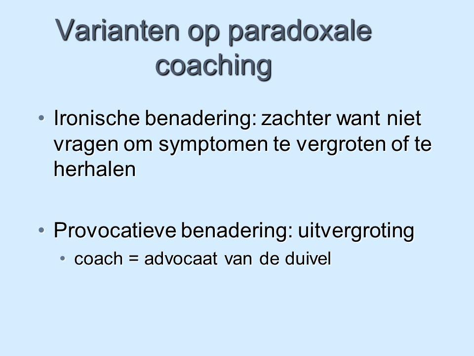 Varianten op paradoxale coaching