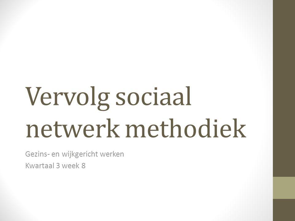 Vervolg sociaal netwerk methodiek