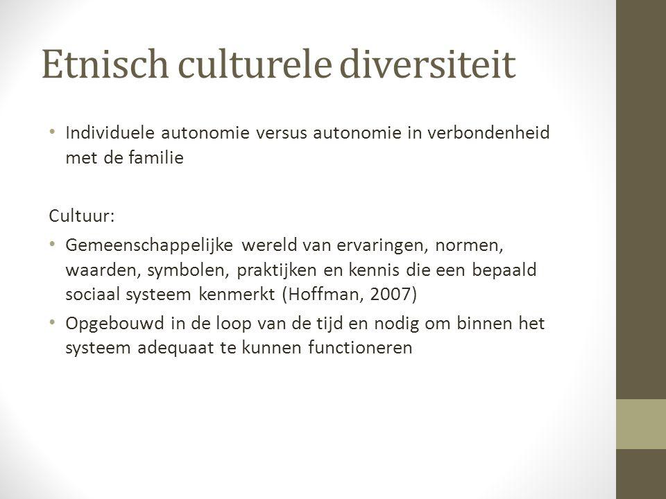 Etnisch culturele diversiteit