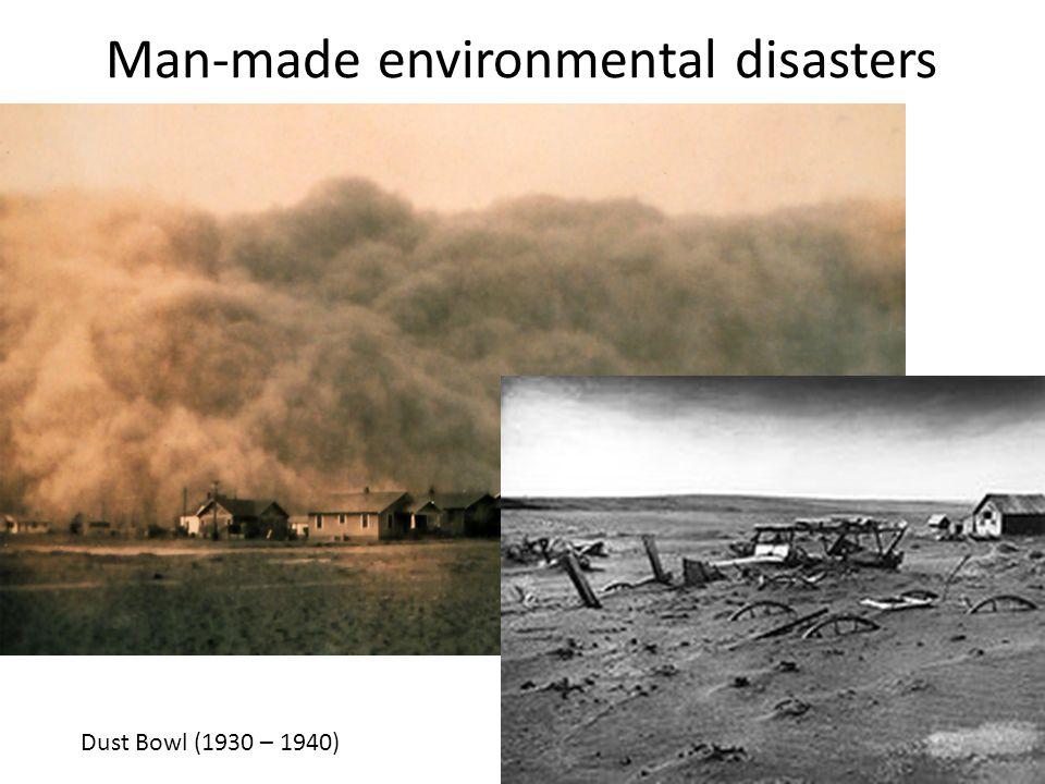 Man-made environmental disasters
