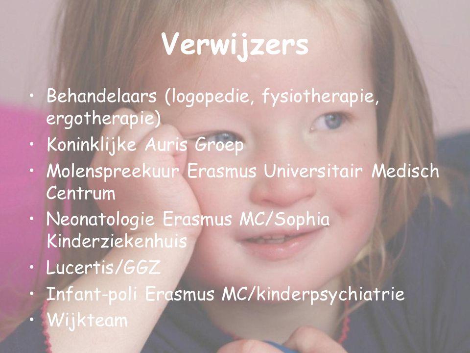 Verwijzers Behandelaars (logopedie, fysiotherapie, ergotherapie)