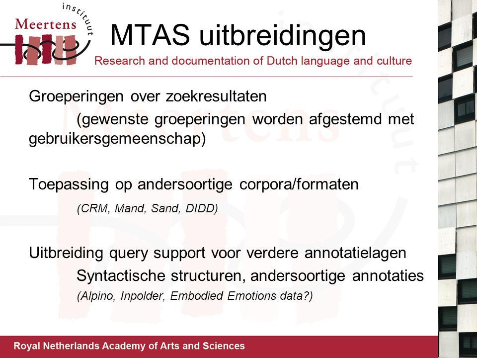 MTAS uitbreidingen