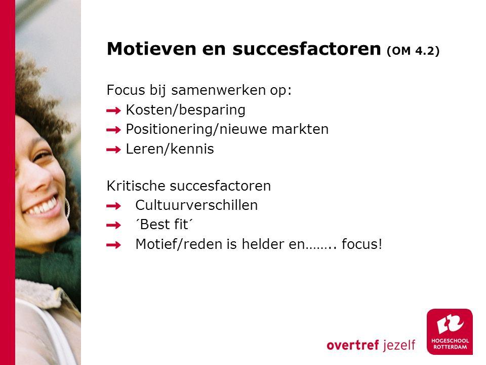Motieven en succesfactoren (OM 4.2)