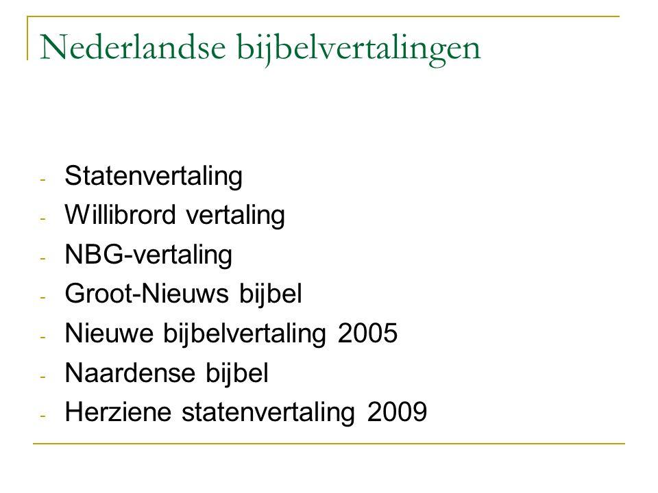 Nederlandse bijbelvertalingen