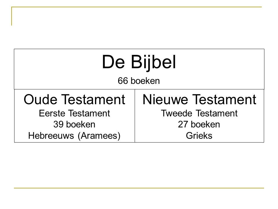 De Bijbel Oude Testament Nieuwe Testament 66 boeken Eerste Testament