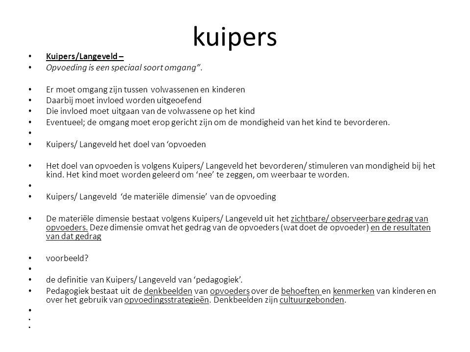 kuipers Kuipers/Langeveld – Opvoeding is een speciaal soort omgang .