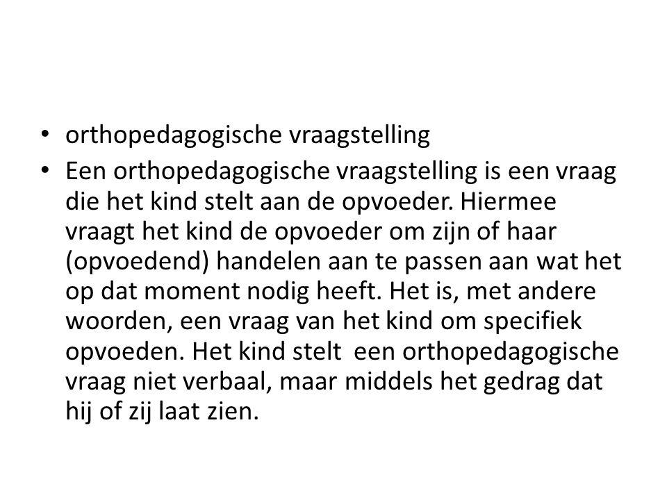 orthopedagogische vraagstelling
