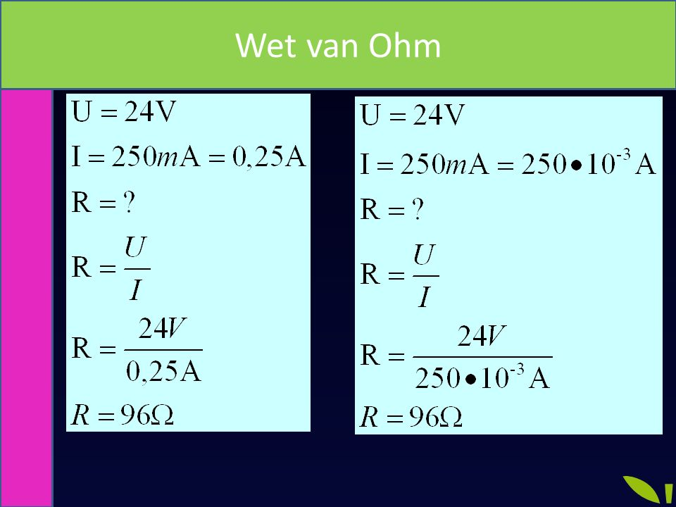 Wet van Ohm